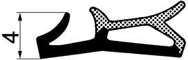 Profils d'étanchéité de battue pour fenêtres RONDOFERMA HEBGO 554