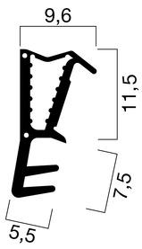 Profils d'étanchéité pour portes d'entrées GOLL SF 1016