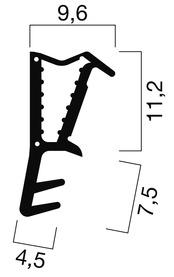 Profils d'étanchéité pour portes d'entrées GOLL SF 1036