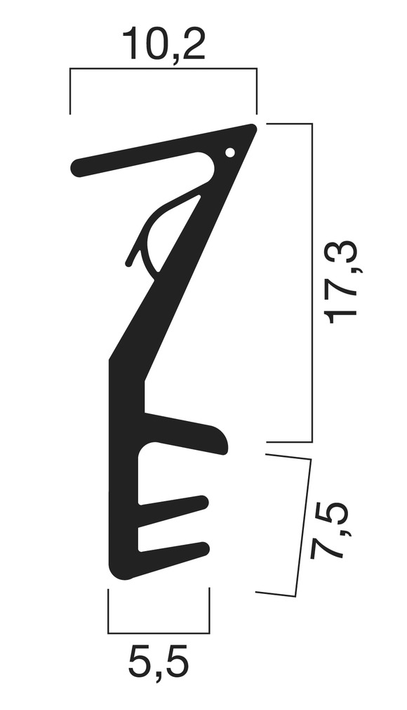 Profils d'étanchéité pour portes d'entrées GOLL SF 1030