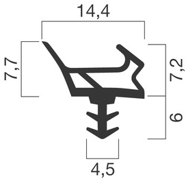 Profils d'étanchéité GOLL A 1022