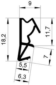 Profils d'étanchéité DEVENTER S 6512 a