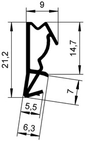 Dichtungsprofile DEVENTER S 6515