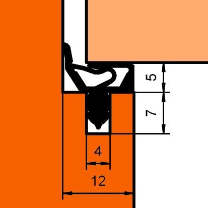 Profils d'étanchéité DEVENTER SP 7522