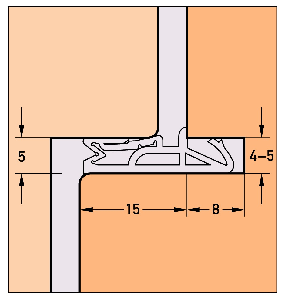 Profils d'étanchéité DEVENTER DS 155a