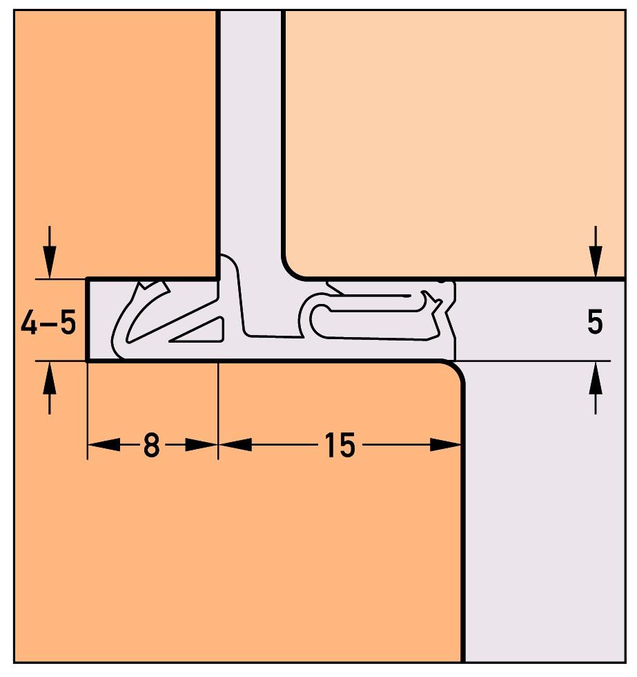 Profils d'étanchéitéDEVENTER DS 6955a