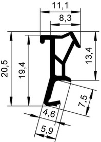 Profils d'étanchéité DEVENTER S 9905 a