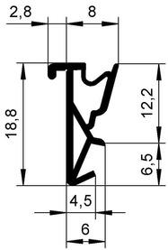 Dichtungsprofile DEVENTER S 6616