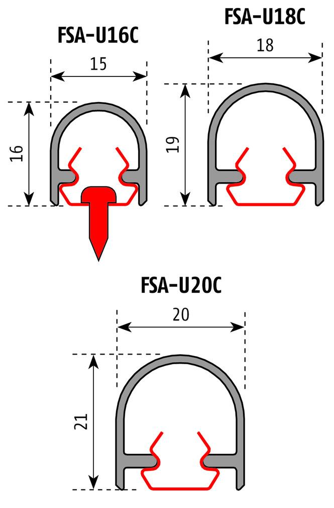 Profils de recouvrement PLANET FSA 8100 U-Clip