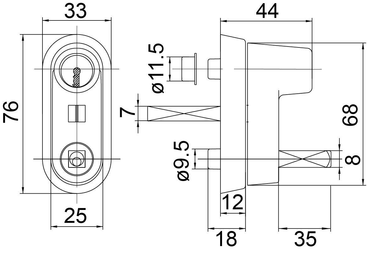 Rosaces à cran d'arrêt avec cylindre à pression MEGA 41.410