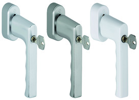 Poignées de fenêtre avec fermeture HOPPE SecuForte® 0700S/UD9020 Hambourg