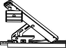 Compas d'impostes OL 90 N verrouillable avec support de vantail