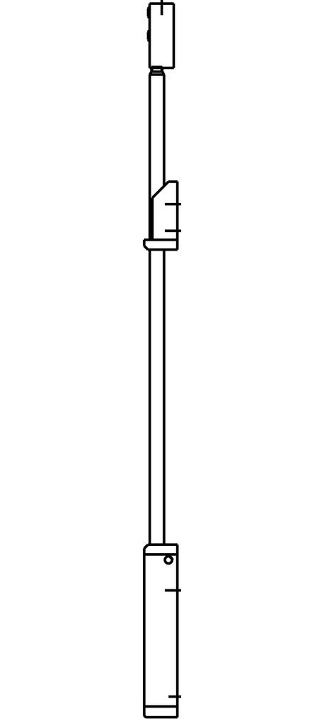 Accessoire pour poignée inclinable correspondant pour GEZE OL 90 N / OL 95
