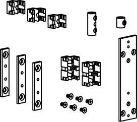 Garnitures d'accessoires pour renvois de rebords correspondant pour OL 90 N / OL 95