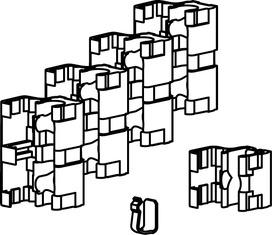 Kit di accessori per finestre ad arco piatto e circolare abbinabile per OL 90 N / OL 95