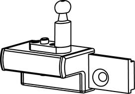 Support de vantail coullisant correspondant pour OL 90 N / OL 95