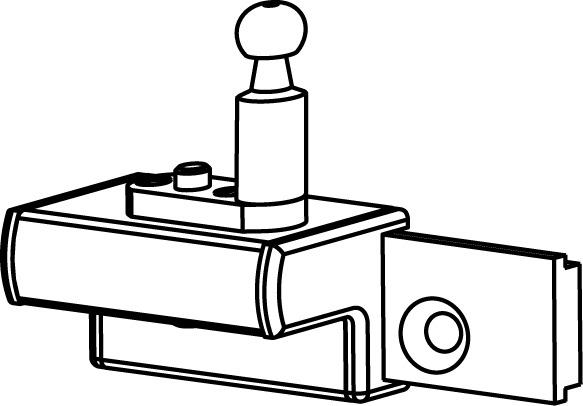 Support de vantail coullisant correspondant pour GEZE OL 90 N / OL 95