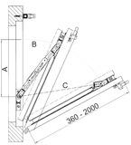 Kit di placche di montaggio per forbici di sicurezza per ribalta e pulizia GEZE FPS