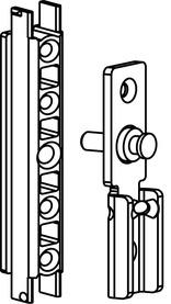 Garniture plaques de montage pour compas de sûreté et de nettoyage GEZE FPS