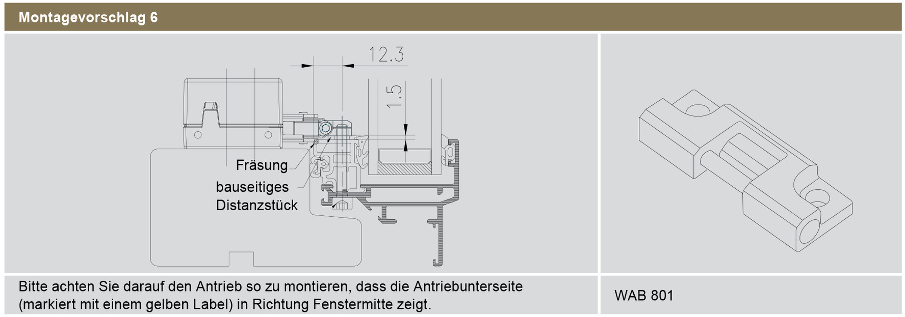 Kettenantrieb WINDOWMASTER WMX 526 / 826