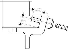 Gabarit de perçage pour fixation de meneaux MACO