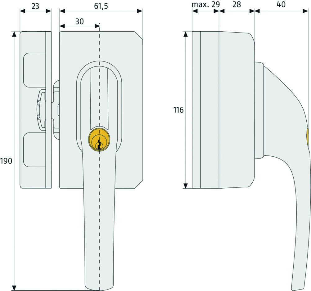 Verrous de fenêtre avec anse de blocage ABUS FO 500