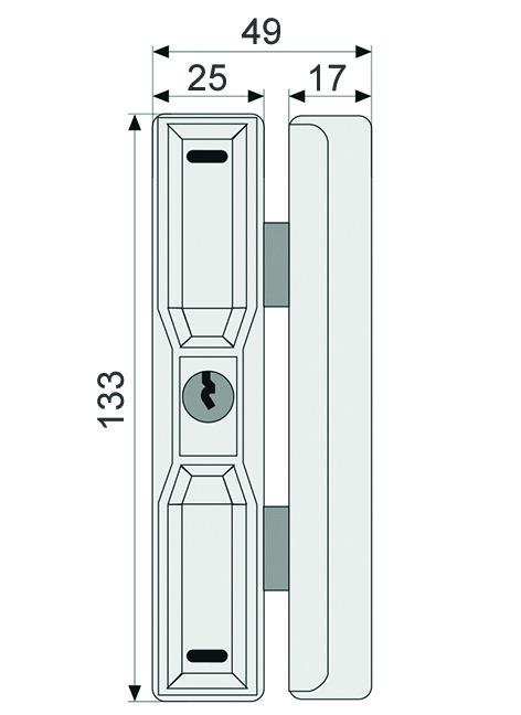 Serrures supplémentaires pour fenêtres ABUS FTS 88