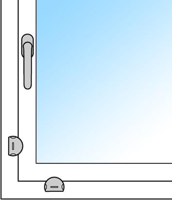 Sûretés de soulevage de fenêtre FSB 3416