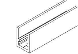 HAWA 10345 Profil porteur revers. 6500mm alu éloxé, non percé (604LM)