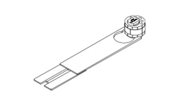 HAWA 13901 Garn. p. fixer le verre 4 pcs. pour 1 porte verre ESG 12 mm