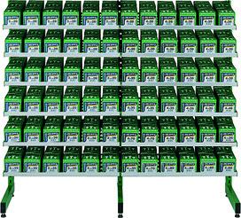 Etagère pour vis SPAX 2x6 rayons