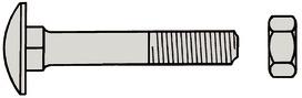Boulons à tête bombée A2 DIN 603