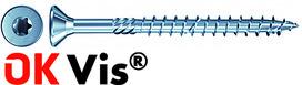 Viti per legno con lamelle per svasare OK-VIS A2