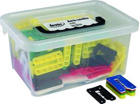 Box con assortimento di blocchi di regolazione con incavo