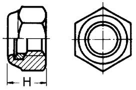 Ecrous à 6 pans de sûreté DIN 985