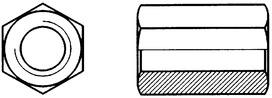 Ecrous longs DIN 6334