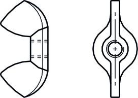 Ecrous à ailettes A2 DIN 315
