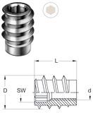 Bussole mordenti con passo metrico interno RAMPA tipo SK