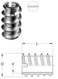 Bussole mordenti con passo metrico interno RAMPA tipo C