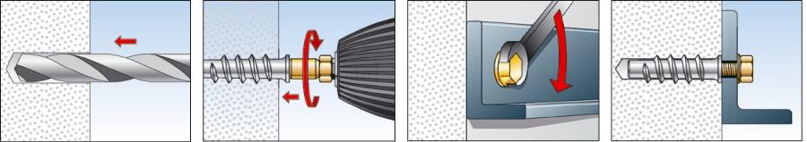 Chevilles pour béton cellulaire FISCHER Turbo FTP