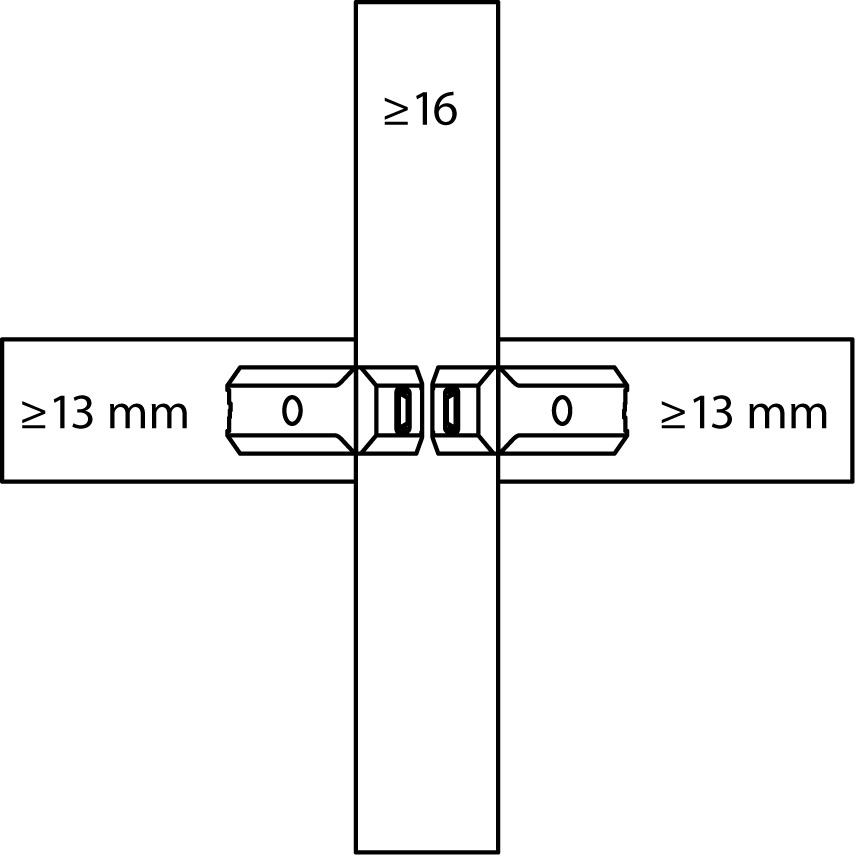 Raccord de cloison LAMELLO CLAMEX P Medius 14/10