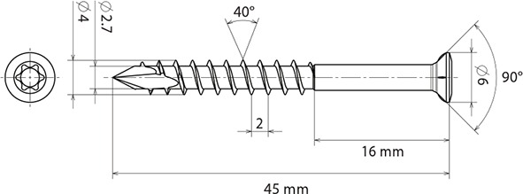 Clip per terrazze HardWood Clip