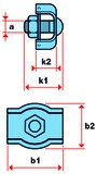 Morsetti Simplex per corde metalliche
