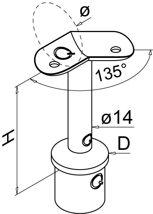 Handlaufstützen Q-LINE®