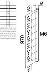 Poteau de balustrade Q-LINE®