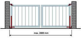 Paumelle de porte avec fermeture automatique intégrée