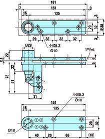 Pivot en haut NITTO type N-21W / N-22W / N-23 W