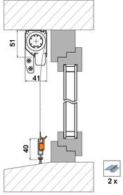 Zubehörset 4030 für Montagevariante 4151 FR3