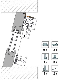 Kit di accessori 4034 per variante di montaggio 4151 FR5
