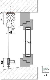 Kit di accessori 4036 per variante di montaggio 4151 FR6 e TR 6